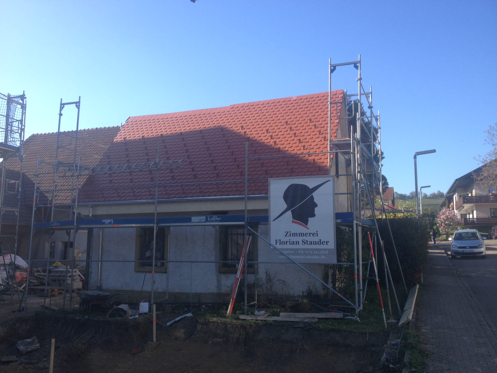 Dachumdeckung eines ehemaligen Backhauses